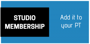 Studio Membership from $190 per week you can add it to your pt