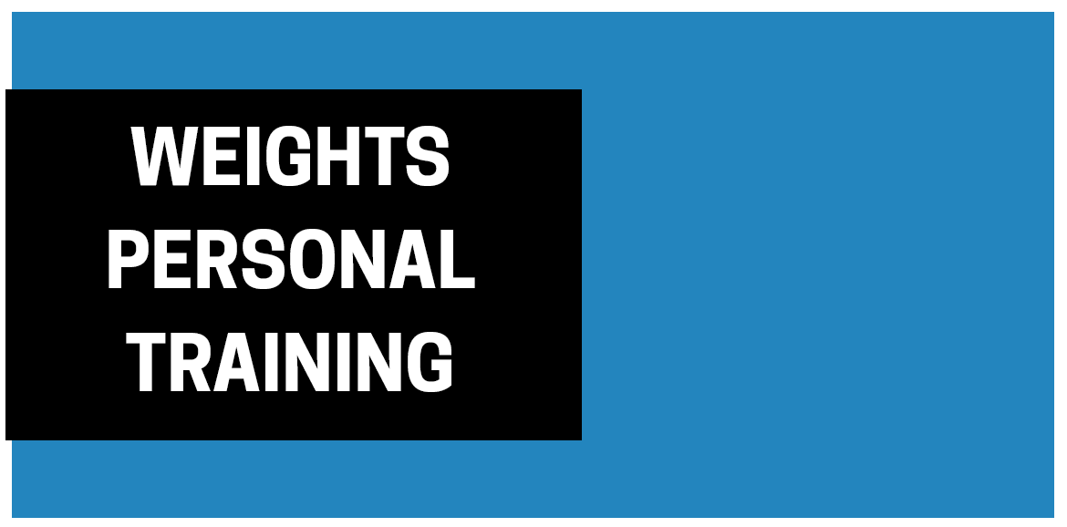 Weights Personal Training from $41 per session